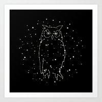 Owl Constellation  Art Print