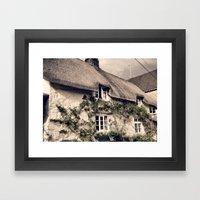 Thatch Devonshire Cottag… Framed Art Print