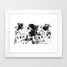 Life is the number  Framed Art Print