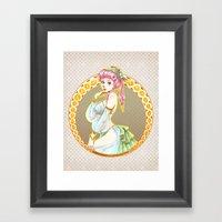Elf Pin-Up Framed Art Print