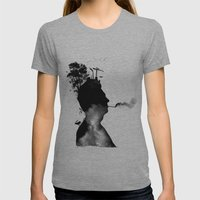 URBAN BLACK MAN Womens Fitted Tee Athletic Grey SMALL
