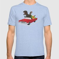 Jurassic Parking Only Mens Fitted Tee Tri-Blue SMALL