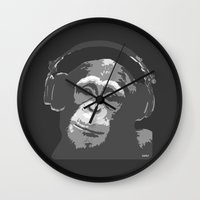 DJ MONKEY Wall Clock