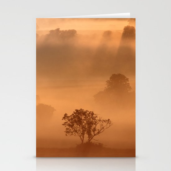 """""""Dawn"""" whispered the mist Stationery Card"""