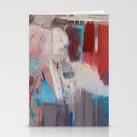 Abstract In Rust Stationery Cards