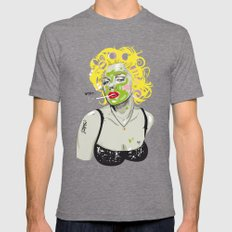 WTF? NATURAL MARILYN Mens Fitted Tee Tri-Grey SMALL