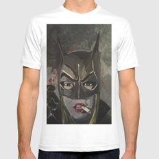 Gotham Vixen SMALL White Mens Fitted Tee