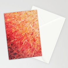 SAILOR'S SUNRISE - Beautiful Modern Abstract Crimson and Pink Nature Sky Sunset Ocean Reflection Stationery Cards