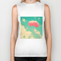 Balloons In The Sky (pin… Biker Tank