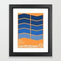 northdown single hop Framed Art Print