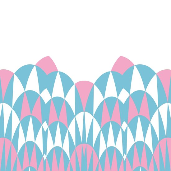 Modern Day Arches Pink Art Print