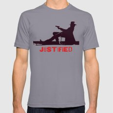 Justified ||| Mens Fitted Tee Slate SMALL
