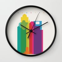 Shapes of Houston. Accurate to scale Wall Clock