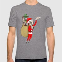 Merry Xmas Mens Fitted Tee Tri-Grey SMALL