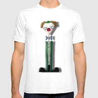 Mr Bow Mens Fitted Tee White SMALL