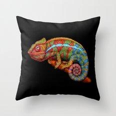 Chameleon 3 Throw Pillow