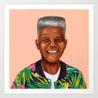Hipstory - Nelson Mandel… Art Print