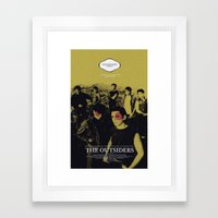 The Outsiders Movie Post… Framed Art Print