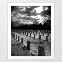 The Graveyard at Dusk Art Print
