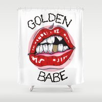 Golden Babe Shower Curtain