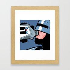 The secret life of heroes - Robot Drink Framed Art Print