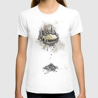 It's Here Daddy! Womens Fitted Tee White SMALL
