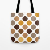 Big Loving Dots: Brown Tote Bag
