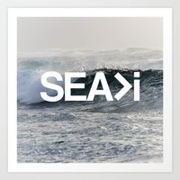 SEA>i Art Print