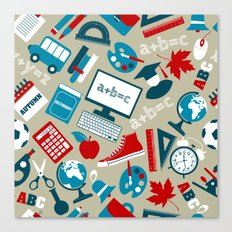 Back To School - Collage Canvas Print