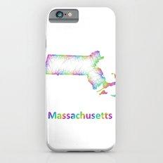 Rainbow Massachusetts map iPhone 6 Slim Case