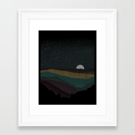 Moonrise (Color) Framed Art Print