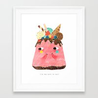 Ice Cream Cake: Too cute too eat! Framed Art Print