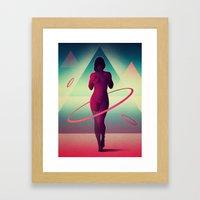 Átomos Framed Art Print