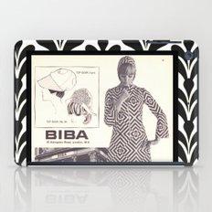 1970s Fashion - A Page from Biba Newspaper iPad Case