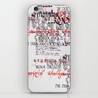 Calligraphic poster IV iPhone & iPod Skin