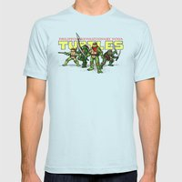 Philippine Revolutionary Ninja Turtles Mens Fitted Tee Light Blue SMALL