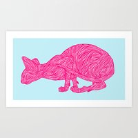 Pink Tammy Art Print