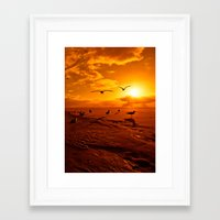 Framed Art Print featuring The Pilgrimage by dTydlacka