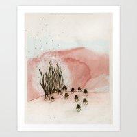 Something New Was Discov… Art Print