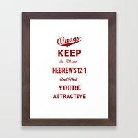 Hebrews 12:1 Framed Art Print