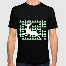 FREEDOM DEER SMALL Mens Fitted Tee Black