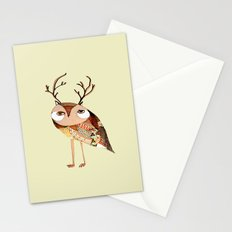 owl print, owl illustration, owl art, owl  Stationery Cards