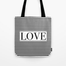 Monochromatic Love Tote Bag