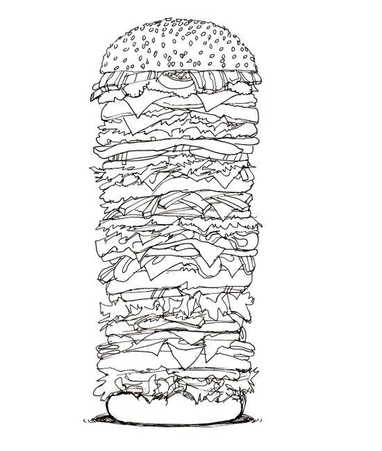 Giant Burger Art Print