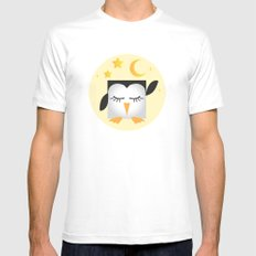 Pixel Penguin - Sleep Mens Fitted Tee White SMALL