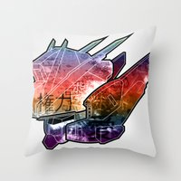 Gun神Dam Throw Pillow