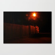 Streetlights and Fences Canvas Print