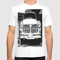 Old Volvo Mens Fitted Tee White SMALL