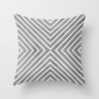 Stripes In Grey Throw Pillow