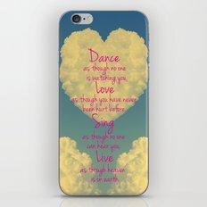 Cloudy Heart  iPhone & iPod Skin